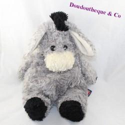 Bear donkey TRUDI grey black legs long hair 40 cm