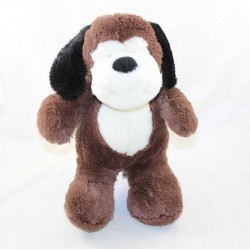 White brown dog with black ears 30 cm