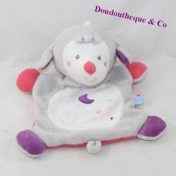 Doudou flat sheep SUCRE D'ORGE moon pink purple 22 cm