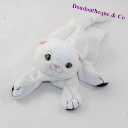 Ikea black white cat puppet 22 cm