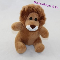 Doudou lion FAMILY - NOVOTEL brown plush advertising 16 cm