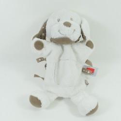 Doudou flat dog INFLUX white puppet bandanas 28 cm