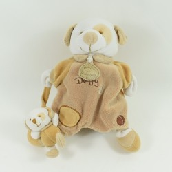 Doudou puppet dog DOUDOU AND COMPAGNY Daffy brown baby 26 cm