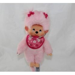 SeKIGUCHI Kiki pink Monchhichi pink bib bib 21 cm