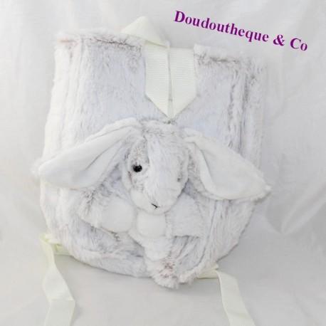 RODADOU rabbit plush backpack mottled white grey 36 cm