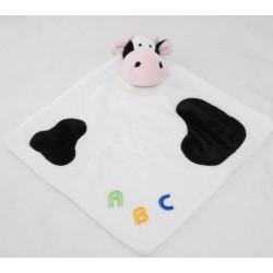 Doudou flat cow KIMBALOO ABC The White Halle black stains 32 cm