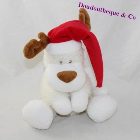 TUg reindeer ORCHESTRA Noel deer elan white red cap 26 cm