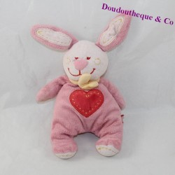 Doudou rabbit TEX pink heart yellow scarf 16 cm