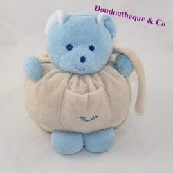 Mustela's mustI blue beige bear doudou 18 cm