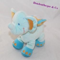 Doudou elephant POMMETTE Blue Intermarket 25 cm