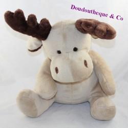HOTITOYS reindeer deer elk beige brown 28 cm