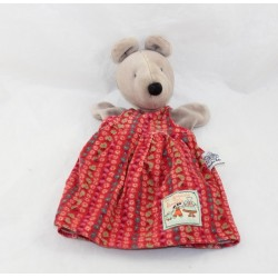 Doudou puppet Nini mouse MOULIN ROTY The Big Family flowery dress 25 cm