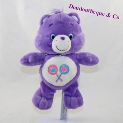 Tougentille bear TEDDY Bisounours purple lollipop 22 cm