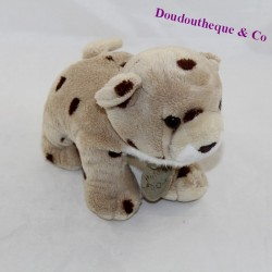 Leopard towel HISTORY OF OURS beige brown stains 18 cm
