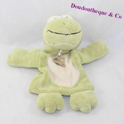 Doudou frog puppet HISTORY OF GREEN BEAR HO1394 26 cm