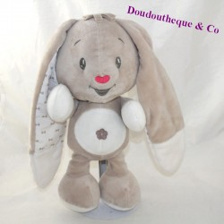 AUCHAN grey beige rabbit knots 30 cm