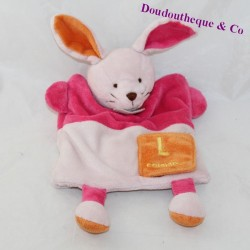 Doudou puppet rabbit BABY NAT' Alphabet L as ... Rabbit 29 cm