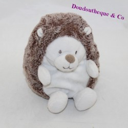 Doudou hedgehog TEX BABY brown white 15 cm