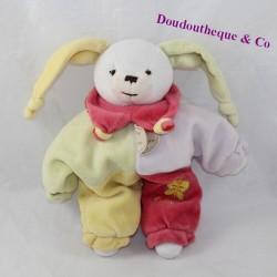 Doudou semi-flat rabbit DOUDOU AND COMPAGNIE Rabbit harlequin 23 cm