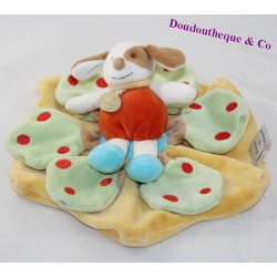 Doudou flat dog DOUDOU AND COMPAGNIE Carambole yellow green 26 cm