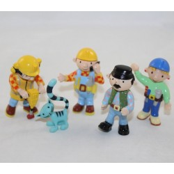 Lot of 5 figurines BOB THE BERSYED PVC 6 cm