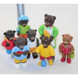 Lot of 7 Figures Small Brown Bear DANIELE BOUR BAYARD PRESSE car, bike ...
