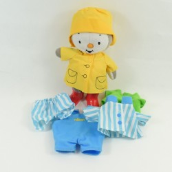 Peluche T'choupi AJENA NOUNOURS outfit winter hat scarf 24 cm