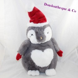Peluche penguin ETAM sleeper pyjamas hot water bottle 38 cm