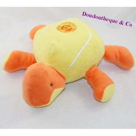 Tortoise CUB ROLAND GARROS PARIS Tennis plush advertising orange yellow 28 cm