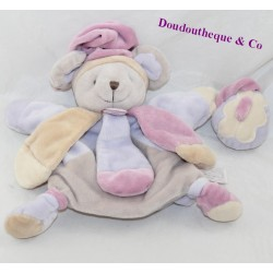 Doudou puppet mouse Doudou and COMPAGNIE Collector mauve beige 25 cm