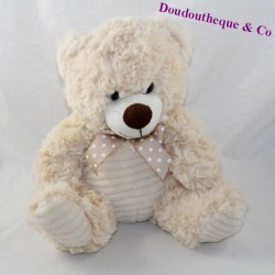 CUBed bear MAX - SAX beige knot at its neck 24 cm