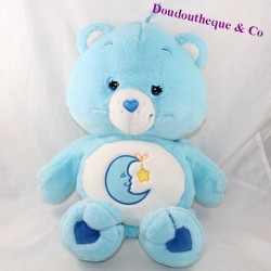 Peluche range pyjamas bear Grosdodo JEMINI The Moon Blue Bisounours 45 cm