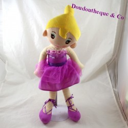 Doll blonde ZEEMAN purple dress dancer 42 cm