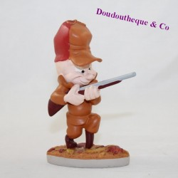 Figure Elmer Fudd WARNER BROS The Looney Tunes the hunter statuette in resin 11 cm