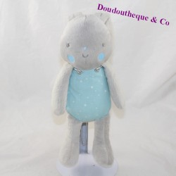 Doudou rabbit KLORANE blue grey stars 25 cm