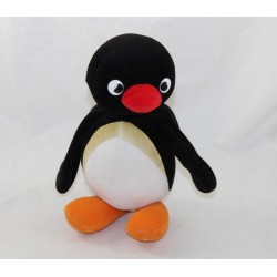 Plush Penguin Pingu JEMINI red black bag 22 cm
