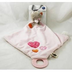 Doudou flat cat NOUKIE'S Iris and Babette pink heart 43 cm