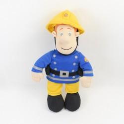 Peluche Sam le pompier OUAPS interactive jaune bleu 35 cm