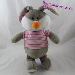 FIZZY Lapi Choco grey bun with striped shirt 32 cm