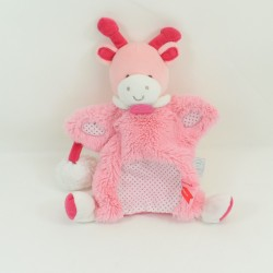 Doudou puppet giraffe DOUDOU AND COMPANY Lovely Pink strawberry 28 cm