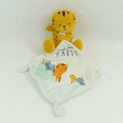 Doudou Tiger SIMBA TOYS My little Tiger BENELUX 13 cm Blue handkerchief