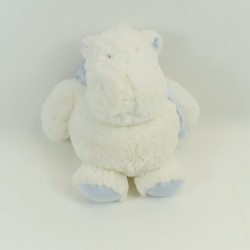 Hippopotamus DOUDOU AND COMPAGNIE My tiny white blue 16 cm