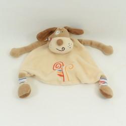 Doudou dog CREDIT AGRICOLE elongated orange 35 cm