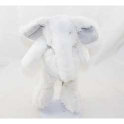 J-LINE elephant cub Oscar white and grey 22 cm