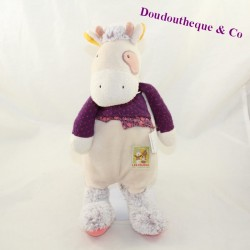 Doudou cow MOULIN ROTY Cousins of the beige mill 32 cm