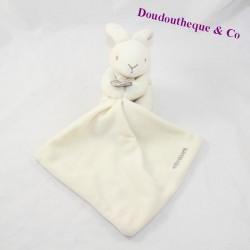 Doudou handkerchief rabbit NATALYS Doudou and White Company 11 cm