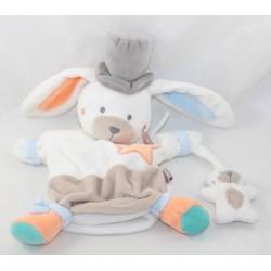 Doudou puppet Charleston rabbit BABY 9 white star Baby9 20 cm