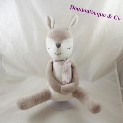 OBAIBI white grey fawn scarf 28 cm