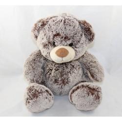 SOFT FRIENDS bear mottled grey brown 26 cm