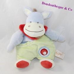 Doudou donkey horse BABY NAT red colerette 27 cm